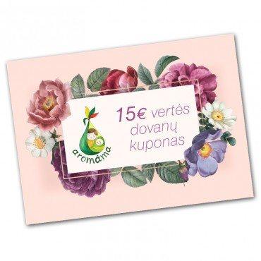 15€ vertės dovanų kuponas
